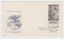 Obálka prvního dne (FDC) 1958 Pofis 1013 podepsané rytec Jindřich Schmidt