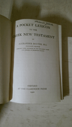 A Pocket Lexicon to the Greek New Testament