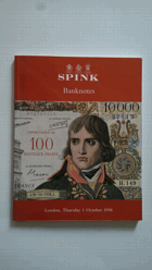 Aukční katalog - Spink Banknotes London 1 October 1998