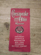 Chesapeake and Ohio Railway - Chesapeake and Ohio Route Between Cincinnati Louisville Washington ...