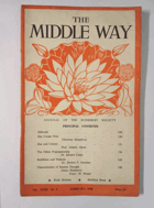 The Middle Way - Journal of the Buddhist Society Vol. XXXII No. 4