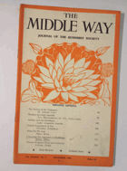 The Middle Way - Journal of the Buddhist Society Vol. XXXVII No. 3