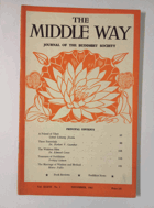 The Middle Way - Journal of the Buddhist Society Vol. XXXVI No. 3