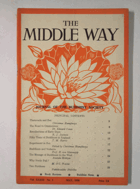 The Middle Way - Journal of the Buddhist Society Vol. XXXIII No. 1