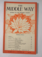 The Middle Way - Journal of the Buddhist Society Vol. XXXV No. 3